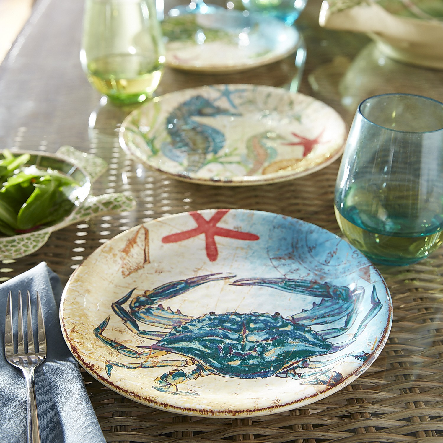 variation thumbnail of Cruiser the Crab Melamine Salad Plate