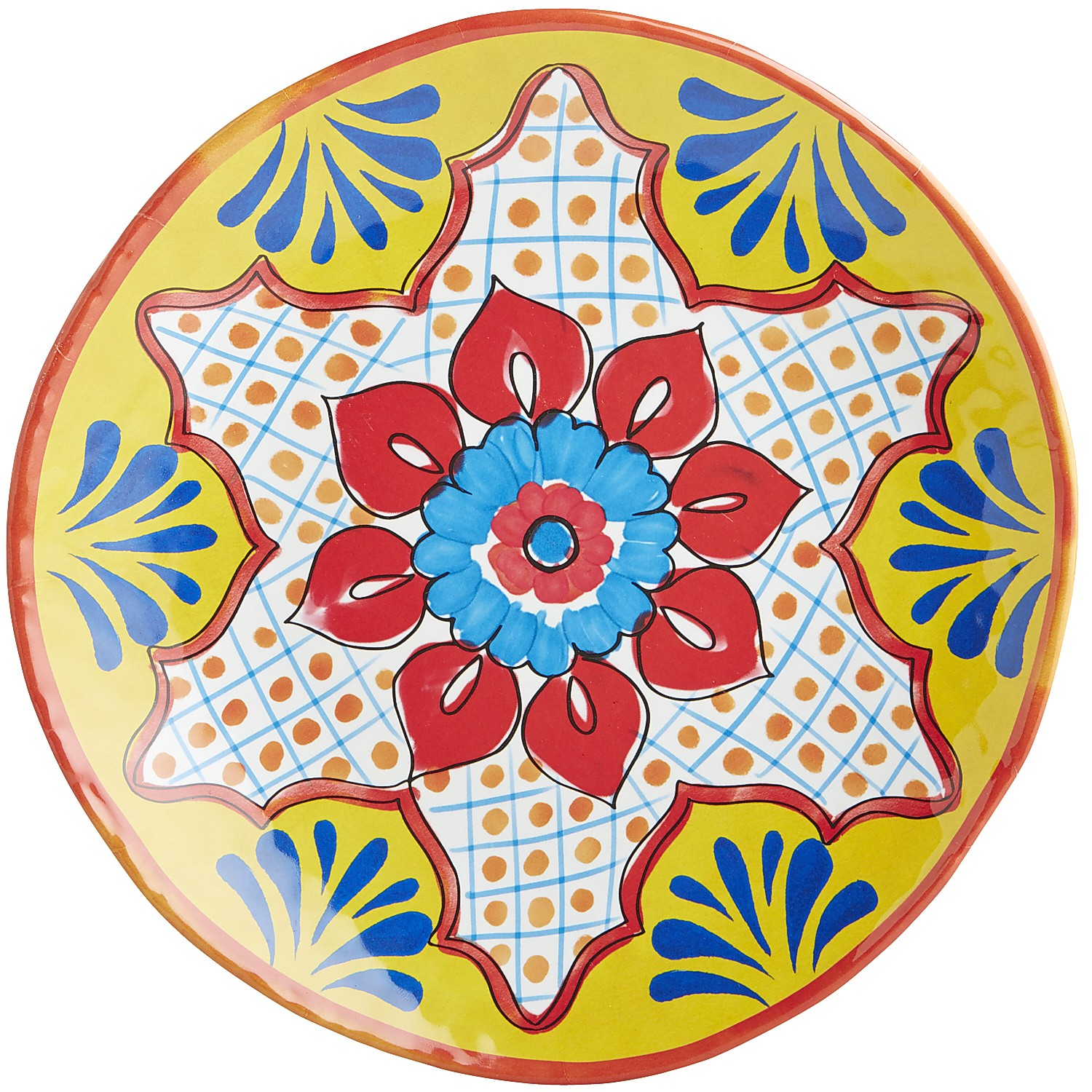 Baja Brights Yellow Melamine Dinner Plate