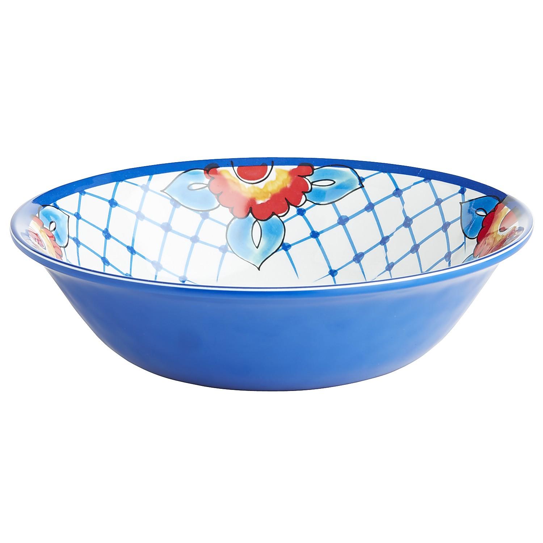 Baja Brights Blue Melamine Bowl