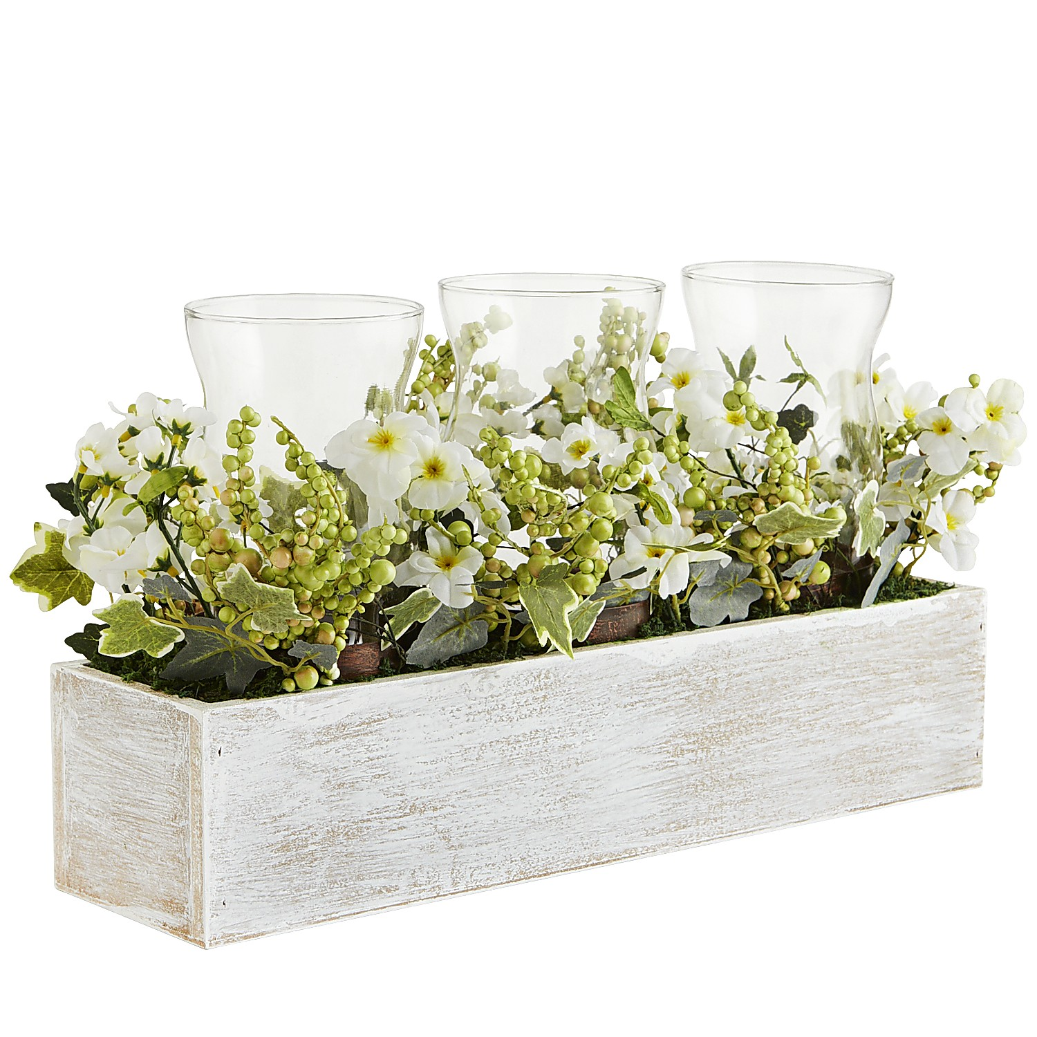 Faux Floral Box Centerpiece