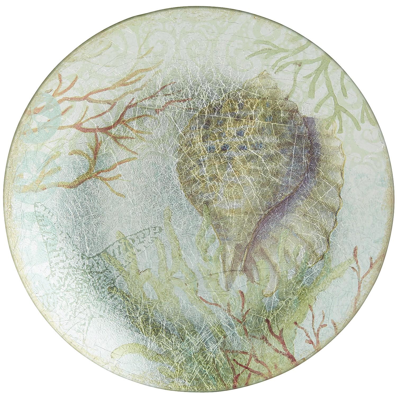 Seashell Glass Salad Plate