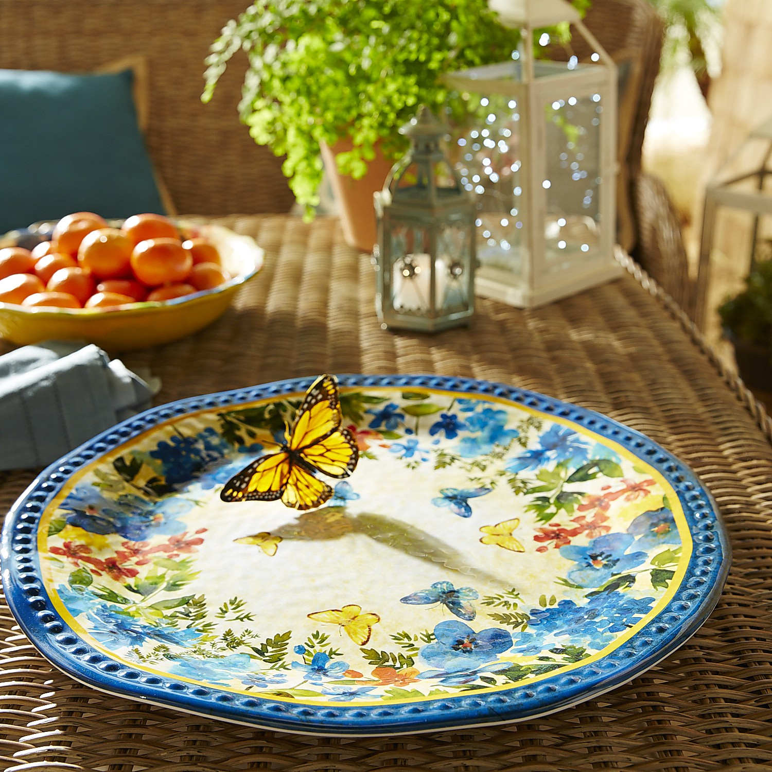 variation thumbnail of Butterfly Floral Melamine Serving Platter
