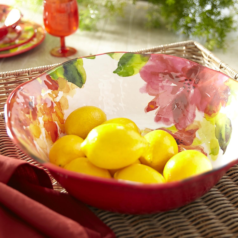 Louise Floral Melamine Serving Bowl