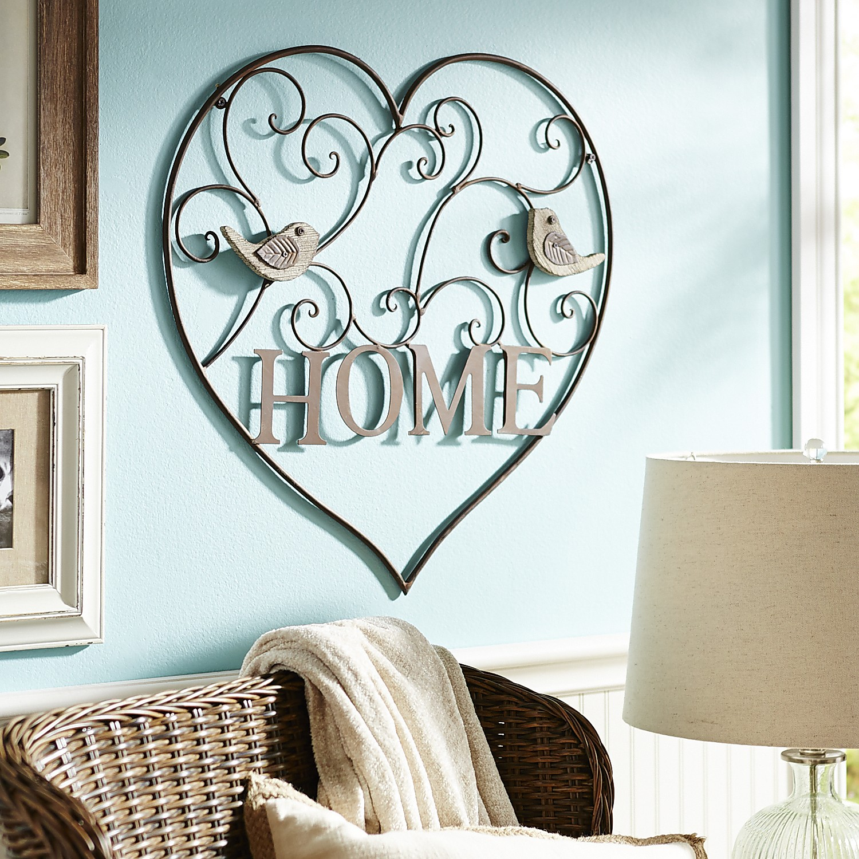 Home Heart Scroll Wall Decor
