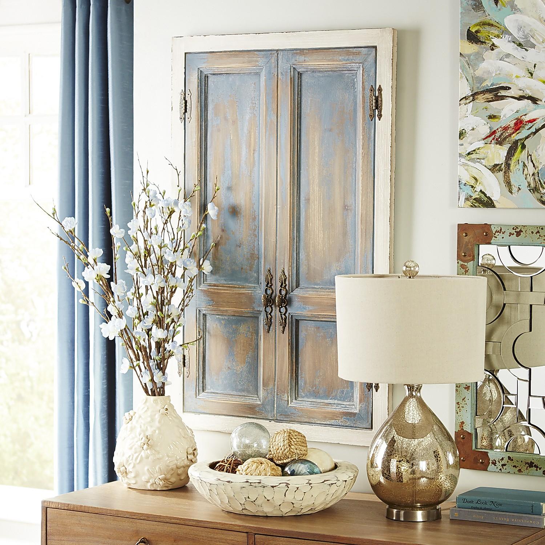 Rustic Blue Doors Wall Decor