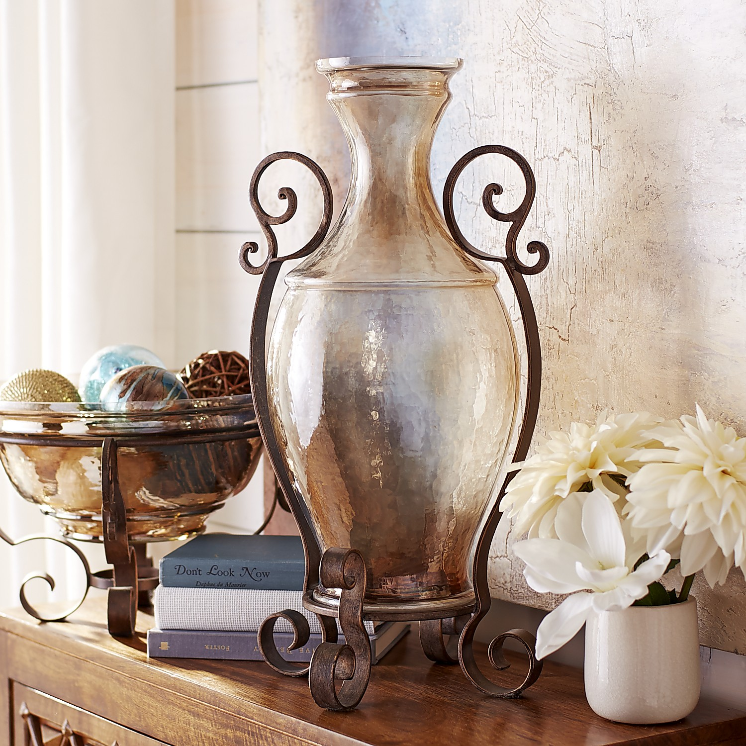 Tuscan Vase with Stand