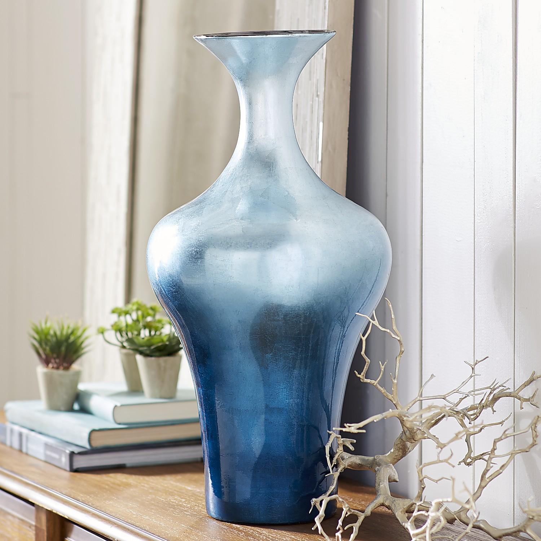 Blue Ombre Foil Vase