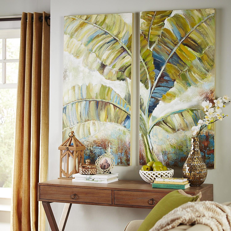Tropical Leaves Art Set