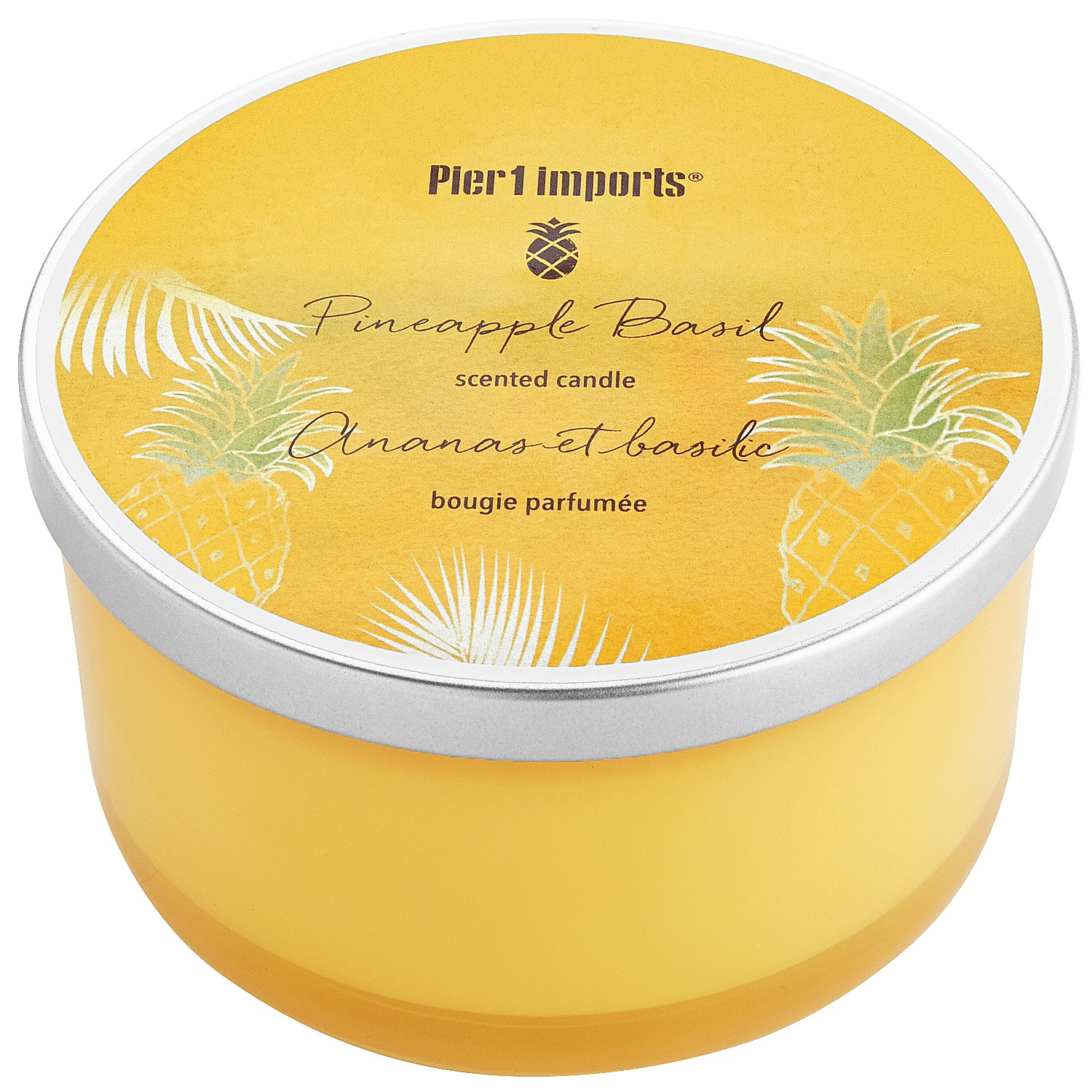Pineapple Basil Filled 3-Wick Candle