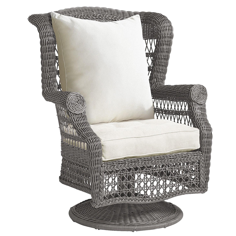 Sunset Pier Gray Swivel Rocking Chair - Pier1 Imports