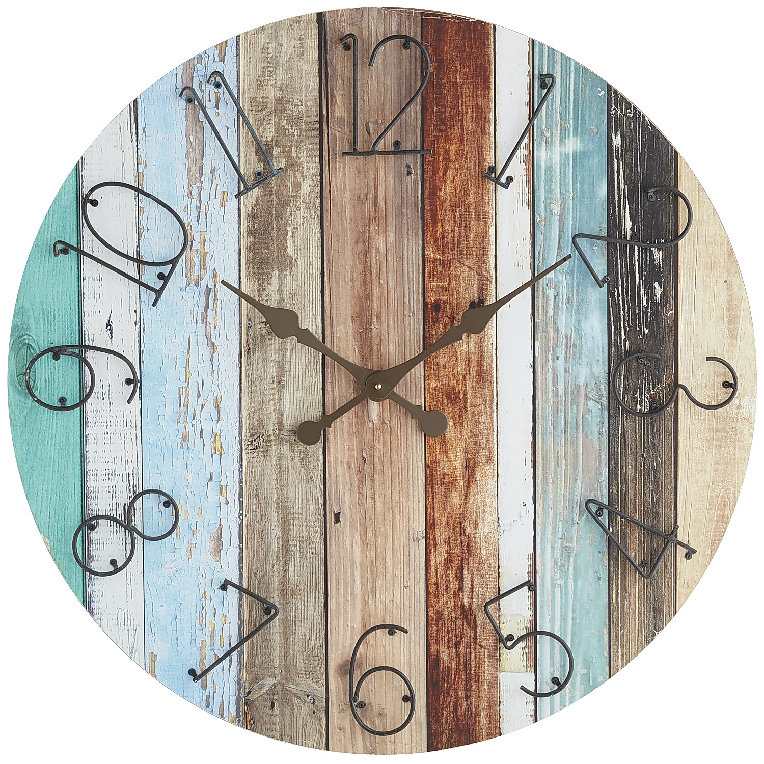 Oversize Shore Drenched Wall Clock