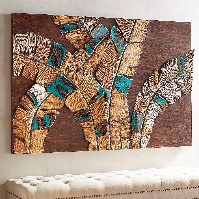 Mosaic Palm Leaves Wall Decor