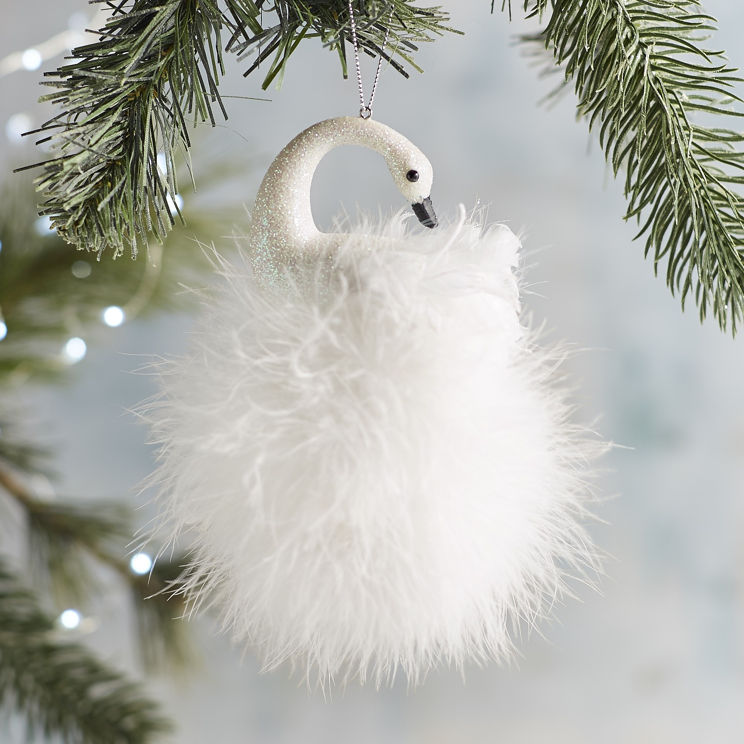 Feather Swan Ornament