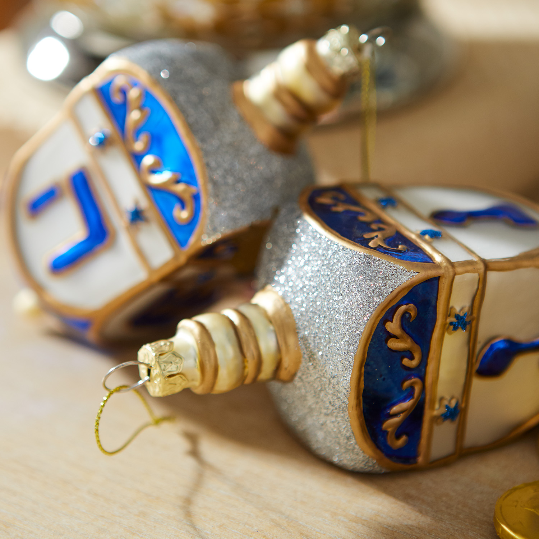 Glass Dreidel Ornament
