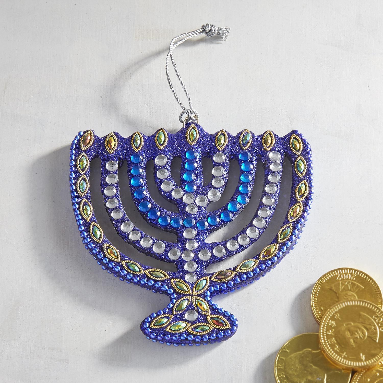 Beaded Menorah Ornament