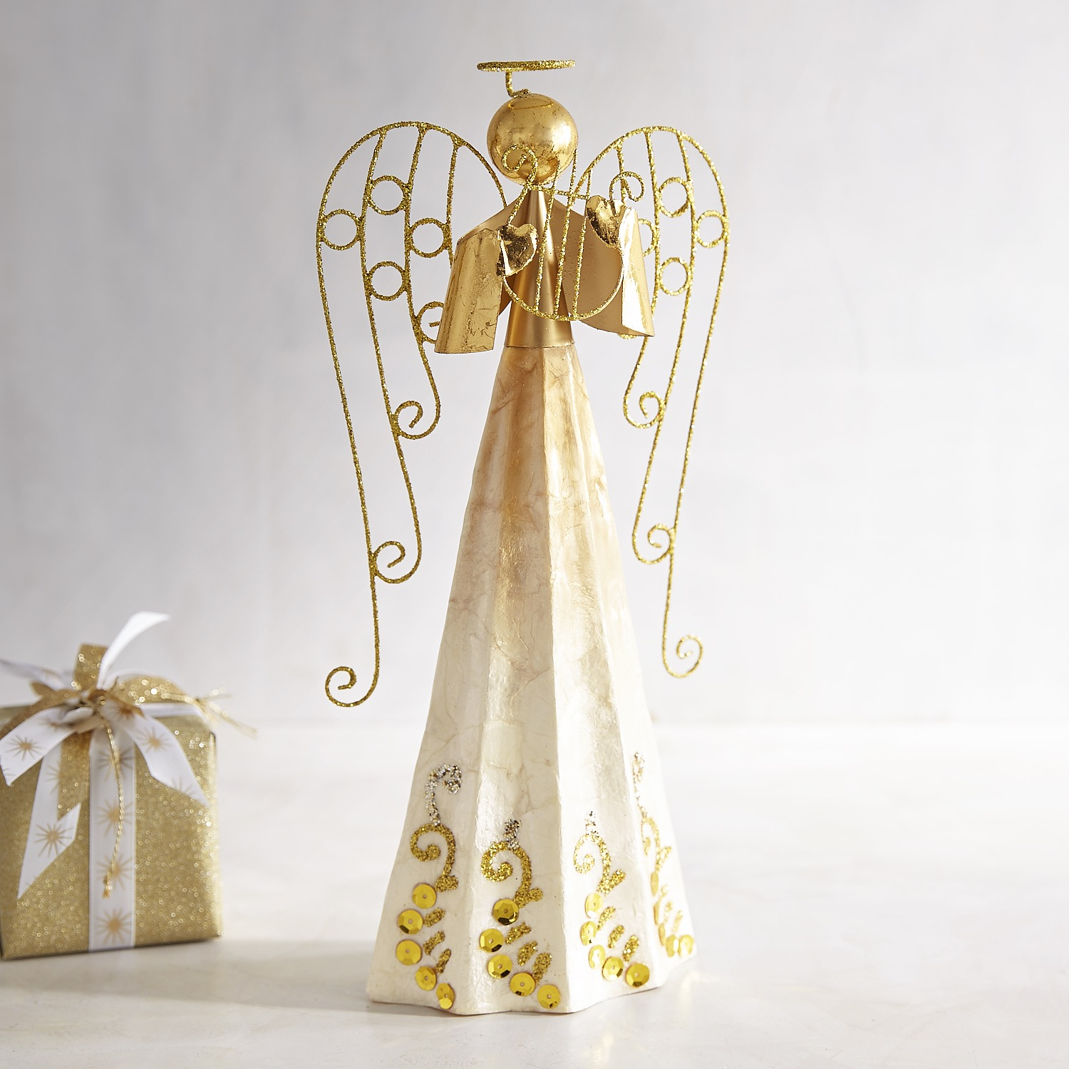 Capiz Angel Cone Decor