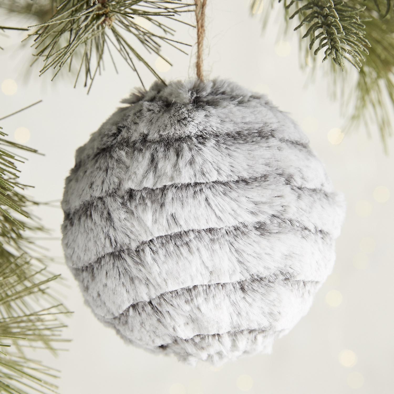 Faux Fur Ball Ornament