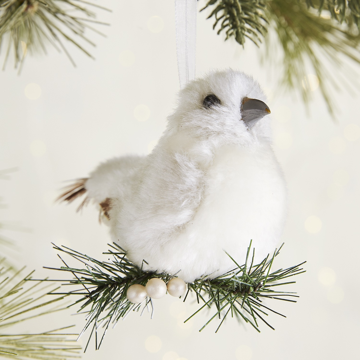 variation thumbnail of Furry Bird on Pine Ornament