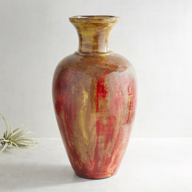 Sunset Terracotta Floor Vase