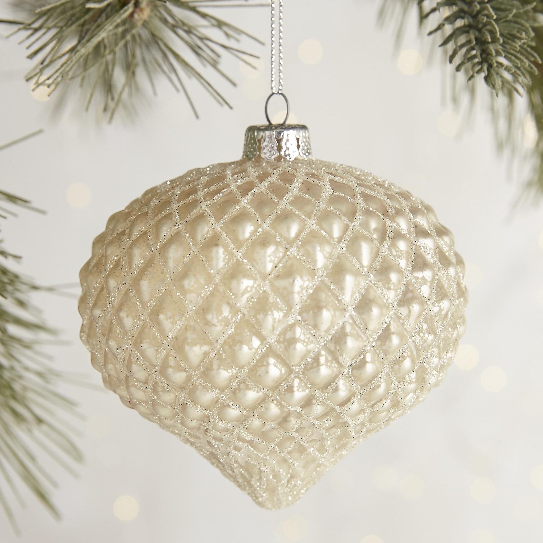 Textured Glass Onion Ornament