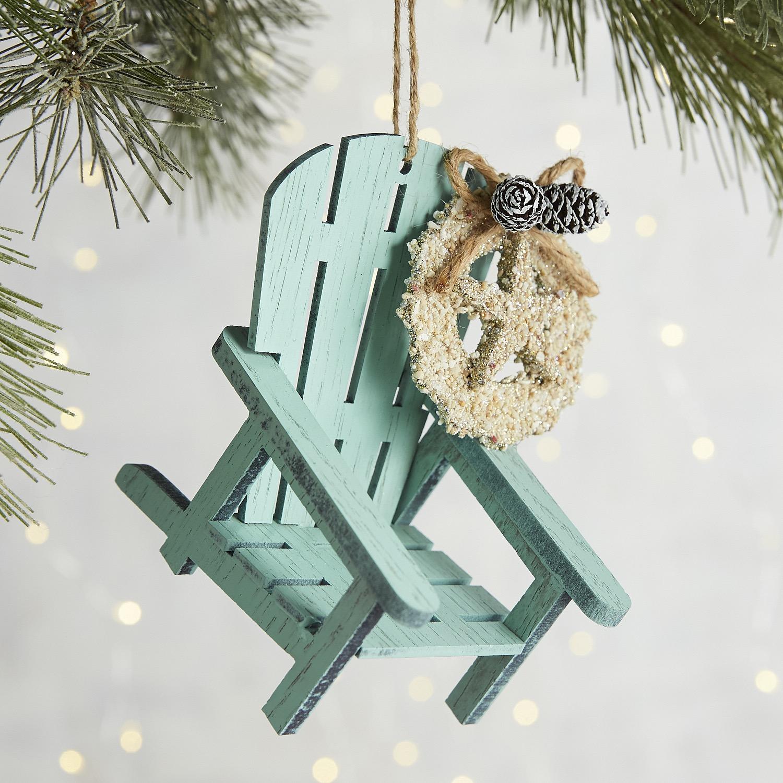 Blue Beach Chair Ornament