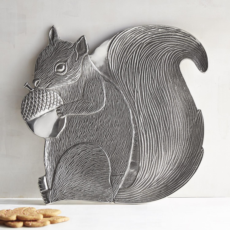 Metal Squirrel Serving Platter