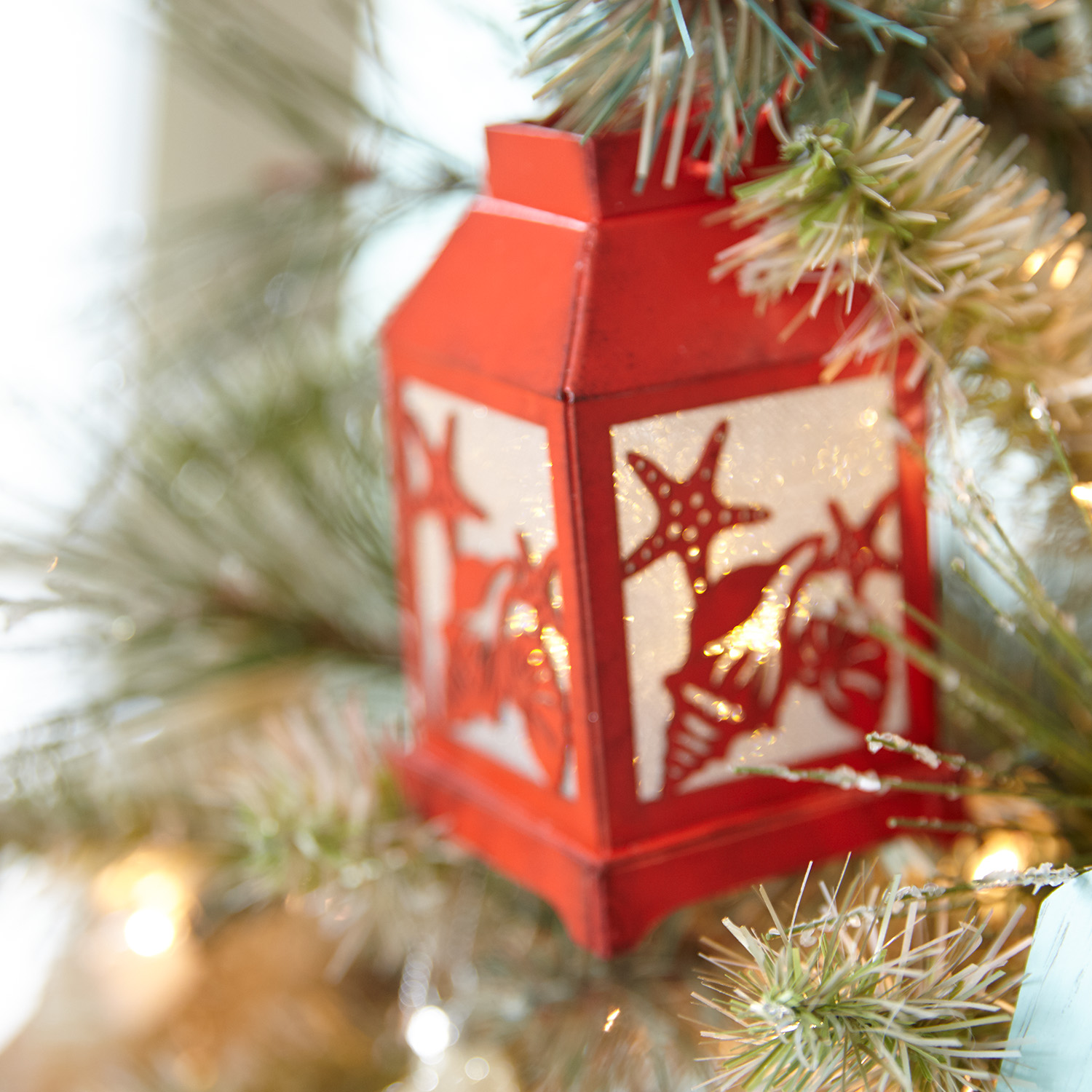 Shell Lantern LED Ornament