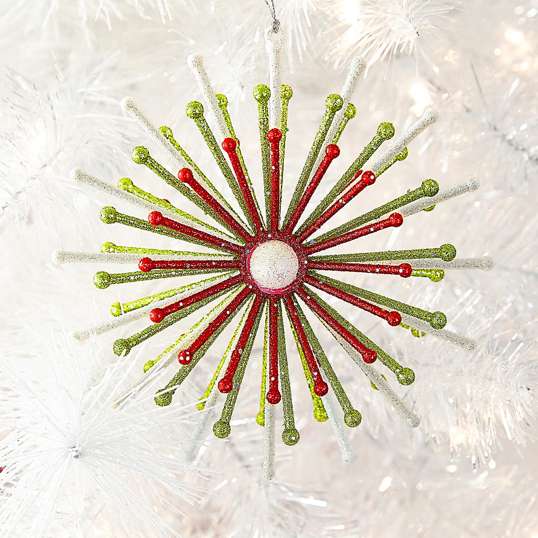 Glitter Starburst Ornament