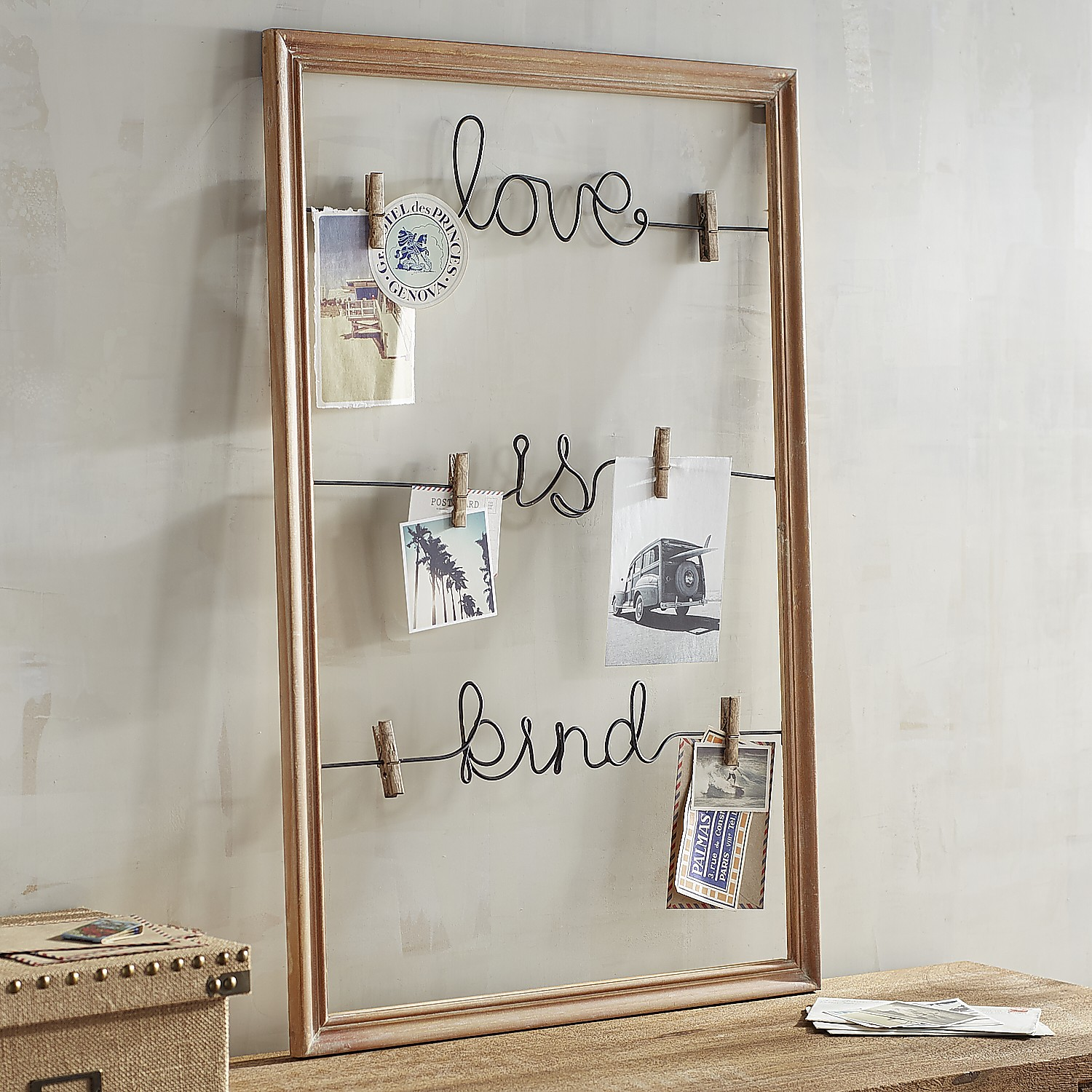 Love is Kind Clip Wall Photo Holder