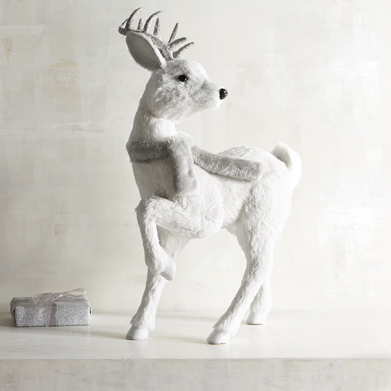 Natural Standing Large White Deer