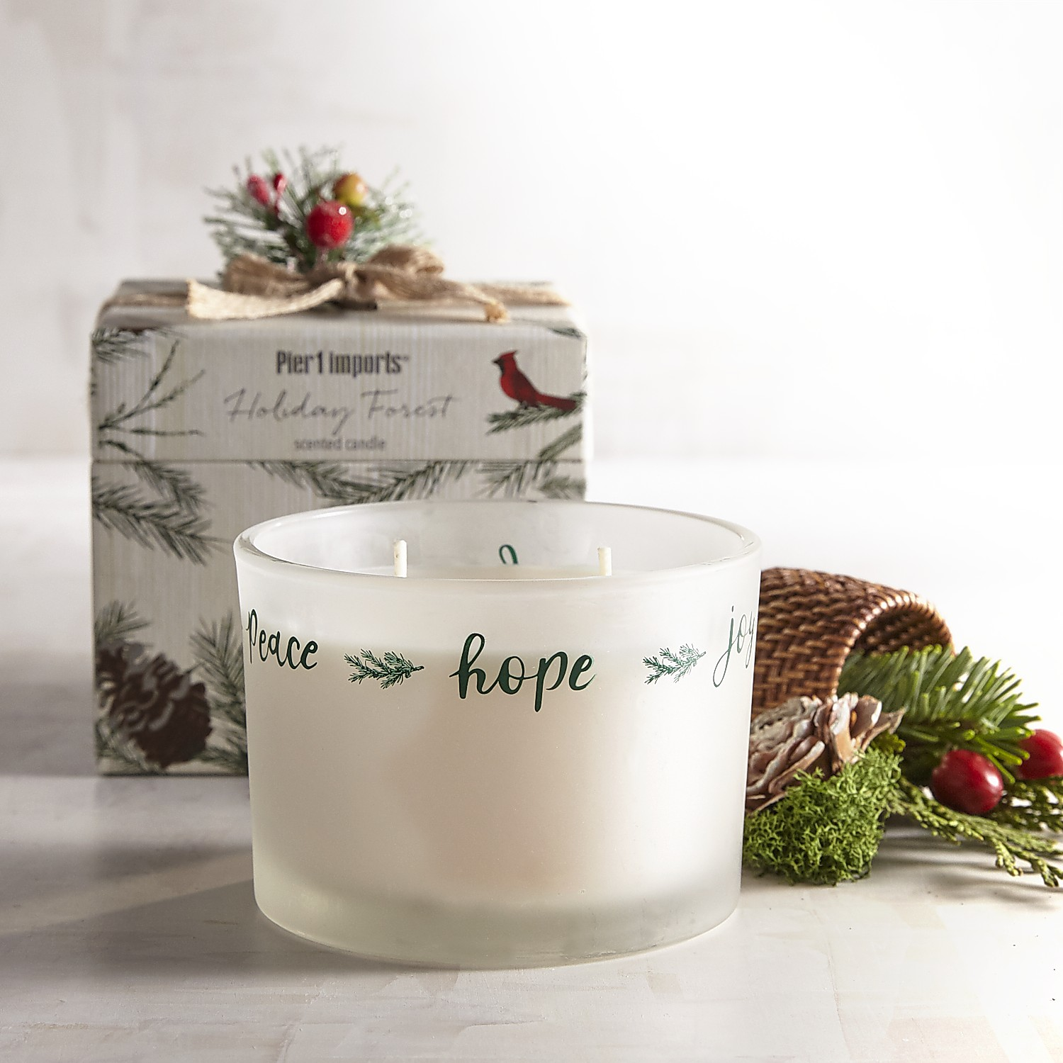 Holiday Forest Boxed Filled Candle