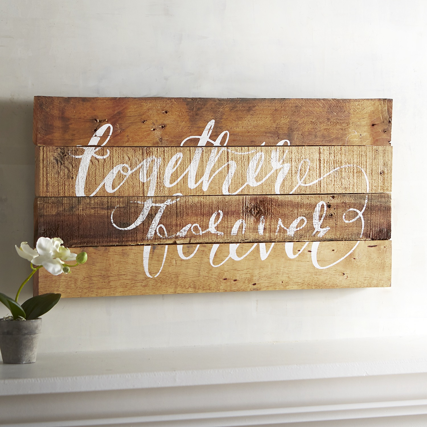 Together Forever Planked Wall Decor