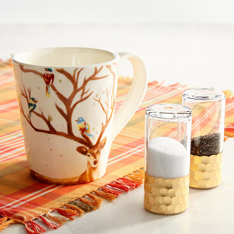Golden Glass Salt & Pepper Shakers