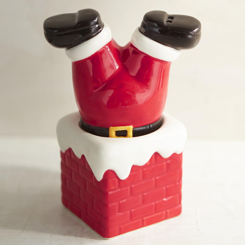 Santa & Chimney Salt & Pepper Shakers