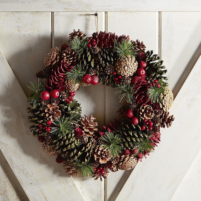 Natural Pinecone Wreath
