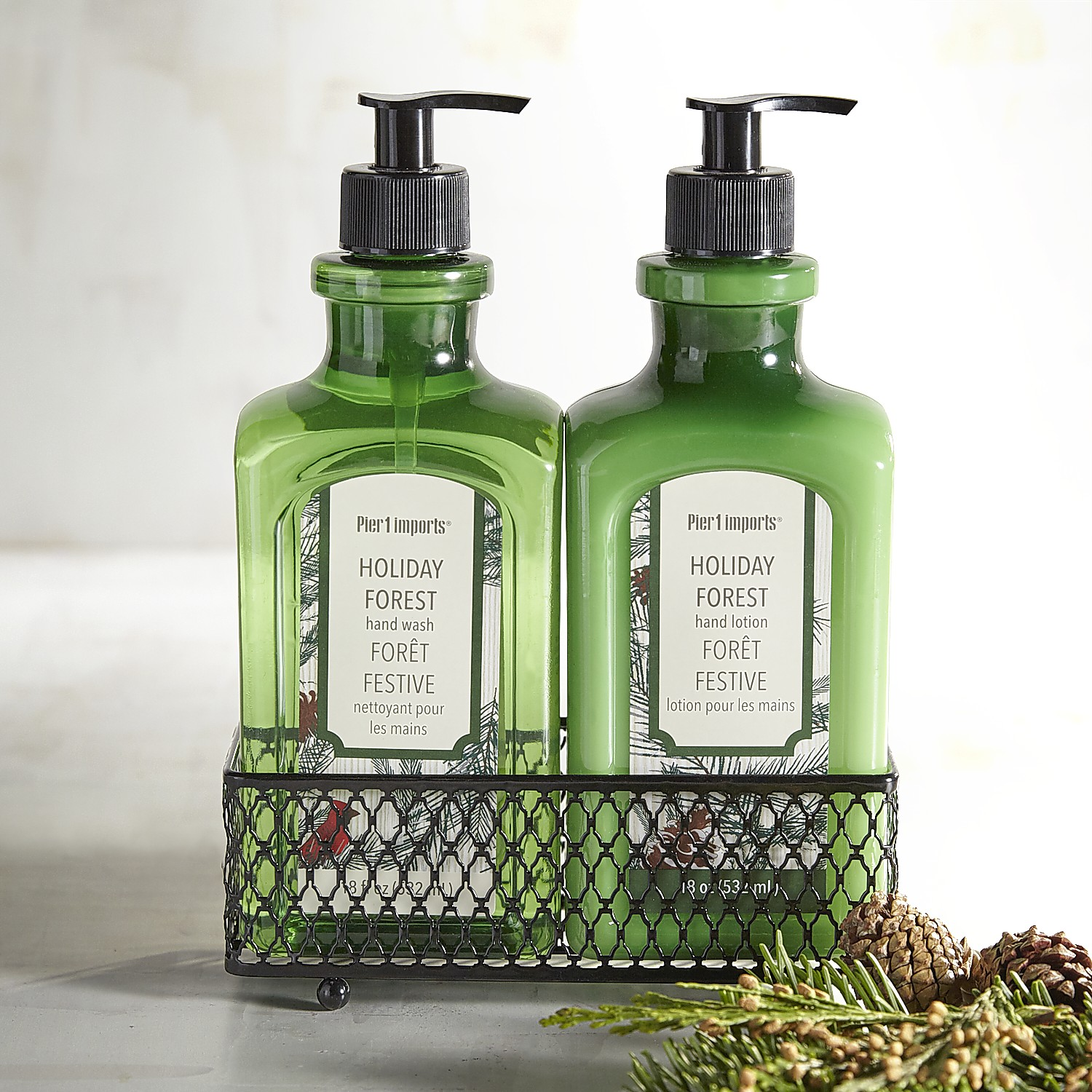 Holiday Forest Hand Soap & Lotion Caddy