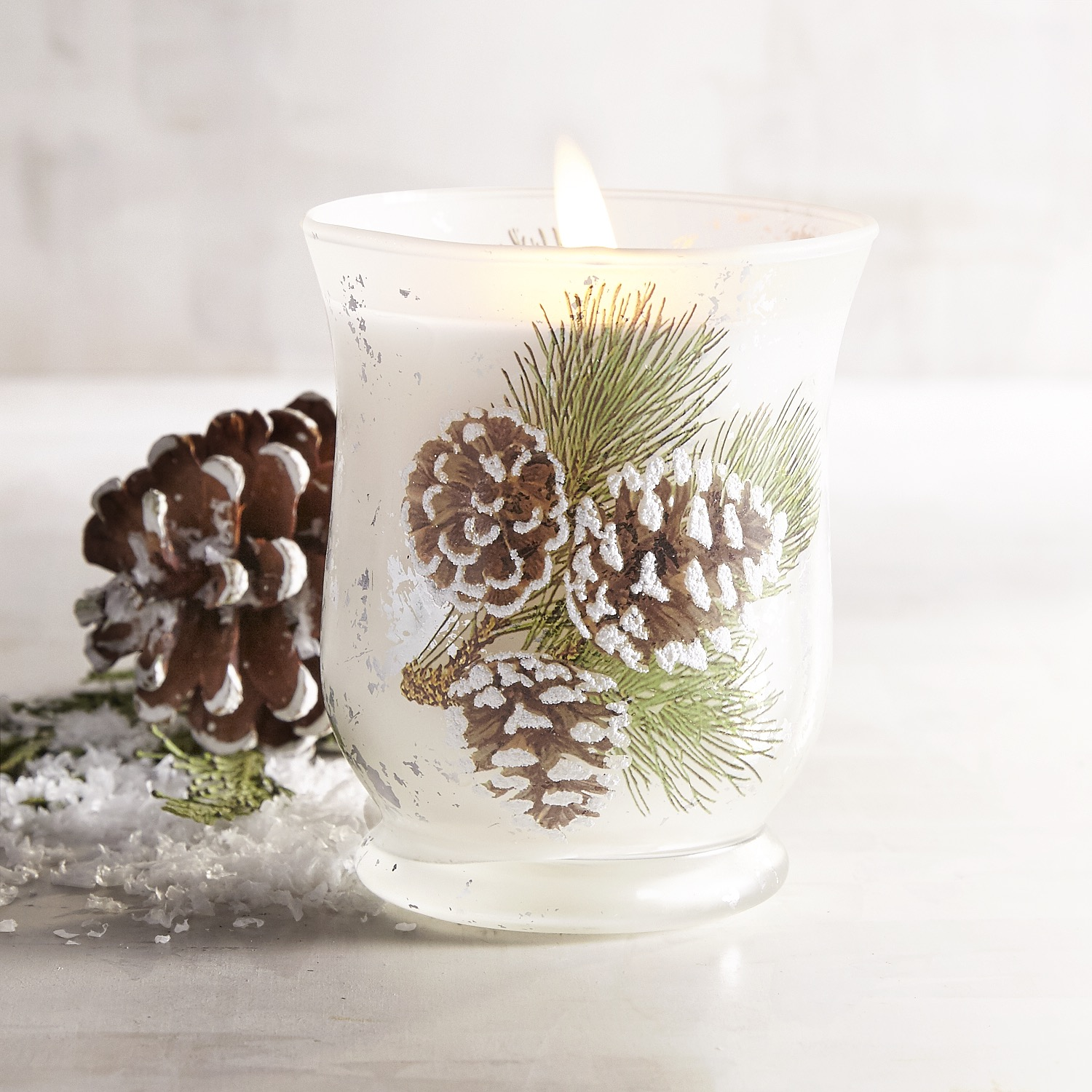 Holiday Forest Pinecone Filled Candle