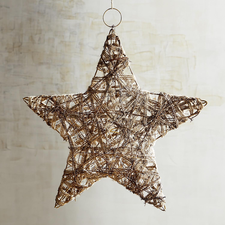 Natural Rattan Star