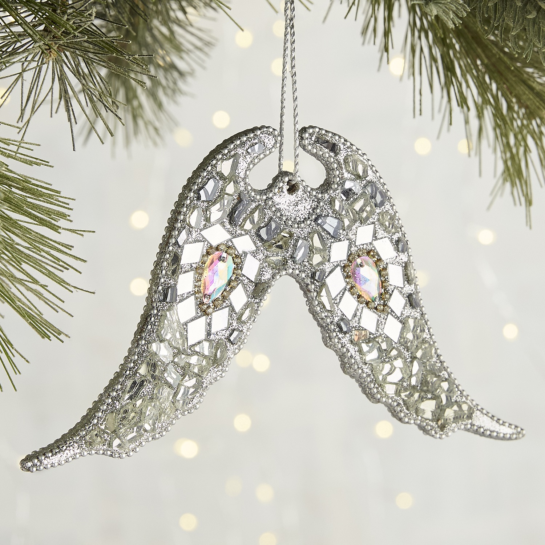Mosaic Angel Wings Ornament