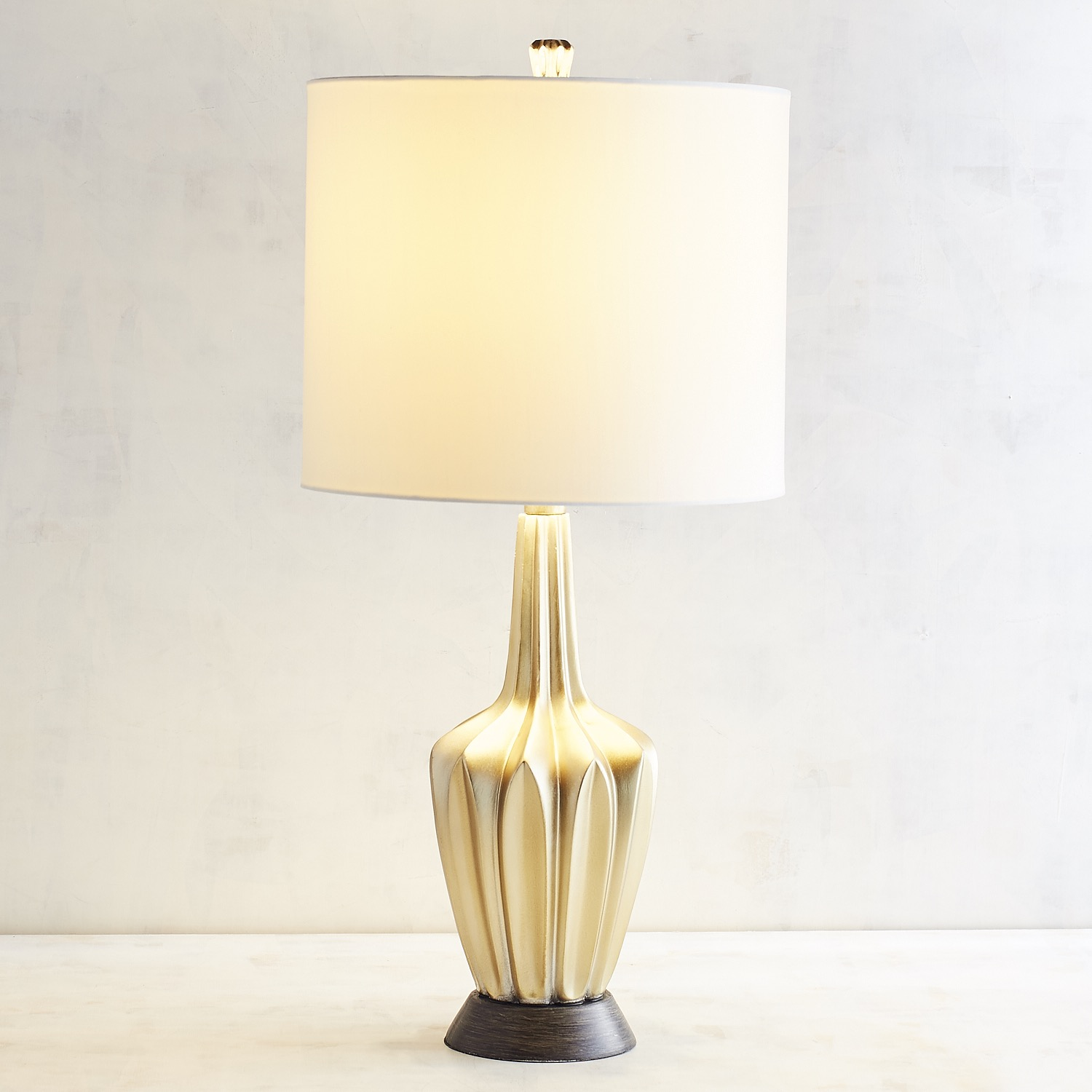Silver Facets Table Lamp