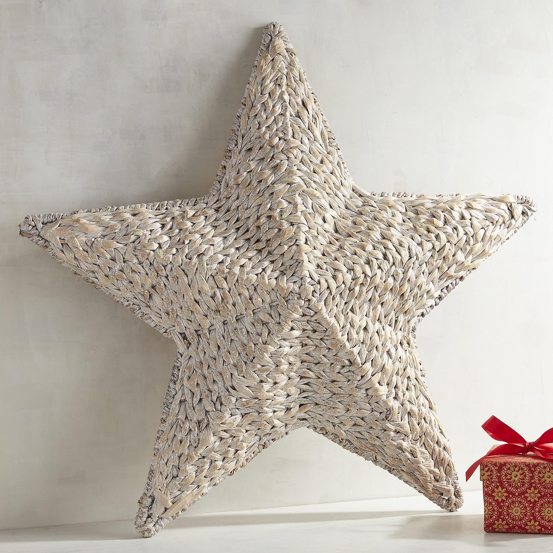 Glitter Woven Star Wall Decor