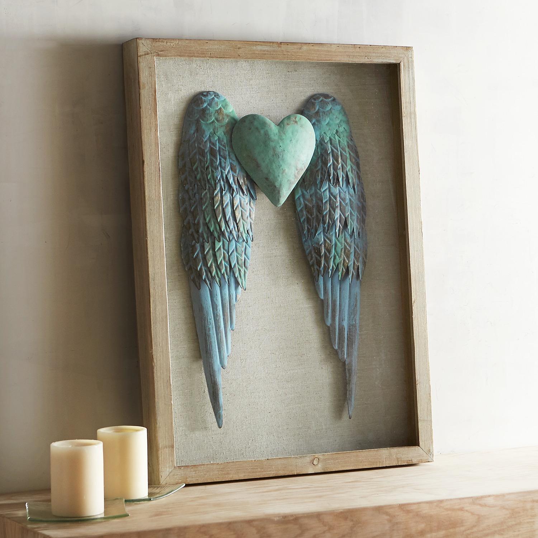 Angel Wings Shadowbox Wall Decor