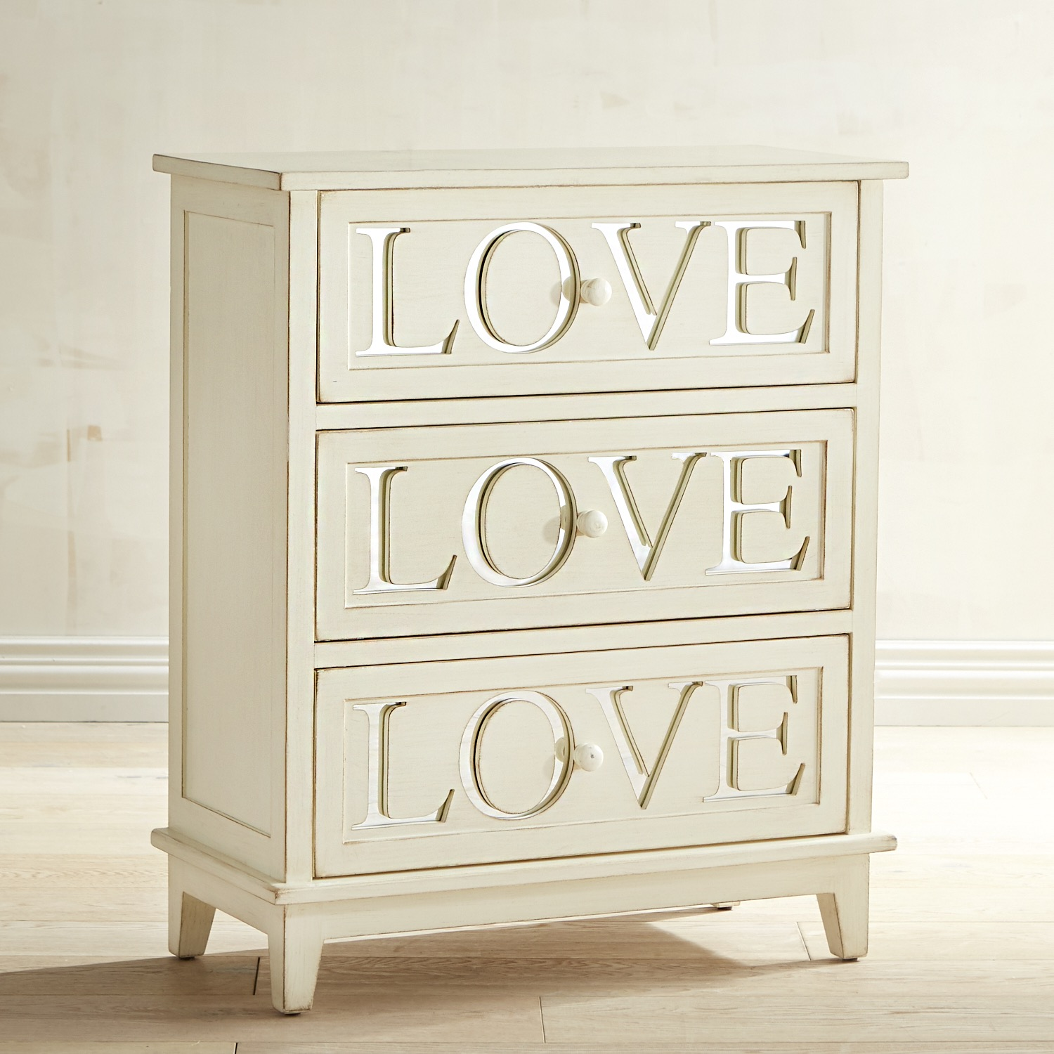 variation thumbnail of Love Antique White 3-Drawer Chest
