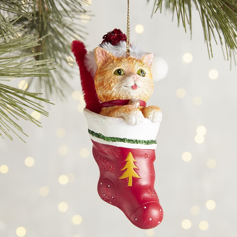 Cat in Stocking Ornament