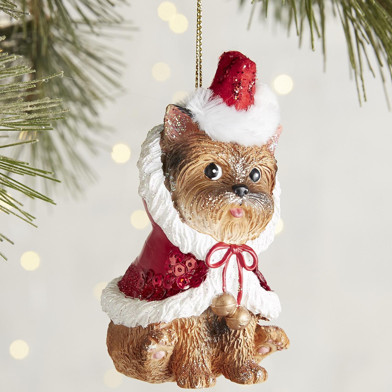 Santa Coat Dog Ornament