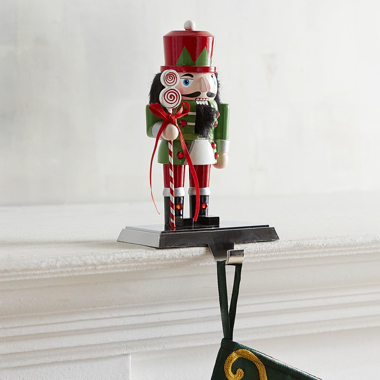 Green Nutcracker Stocking Holder