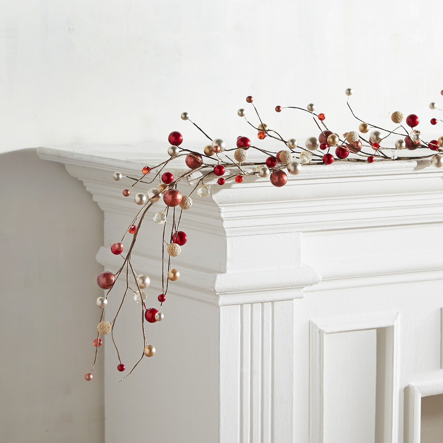 Red & Gold Beaded Garland