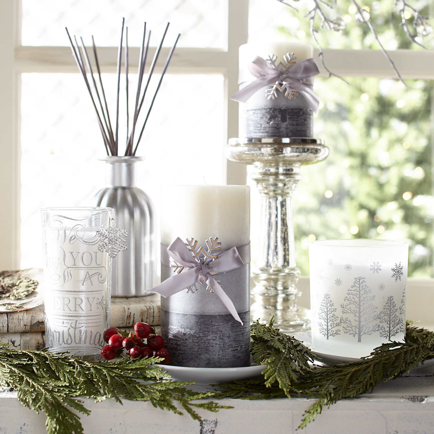 Snowy Birch Boxed Filled Candle