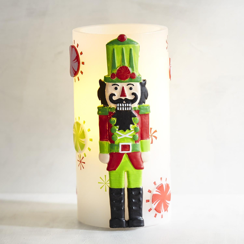 Nutcracker 3x6 LED Pillar Candle