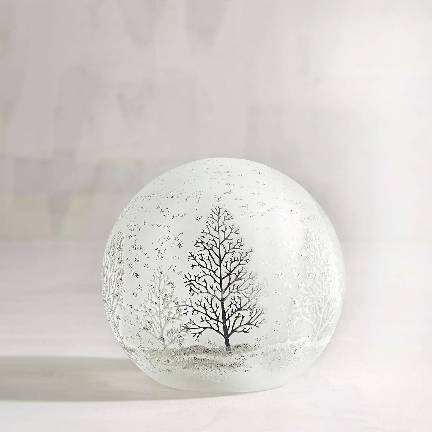 LED Silver Tree Sphere